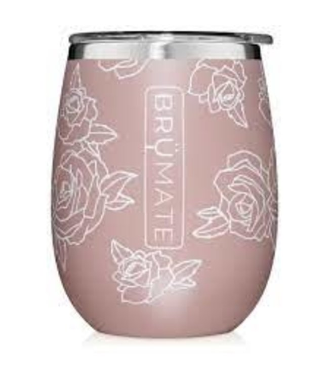 BruMate Uncork'd 14oz Wine Tumbler Rose