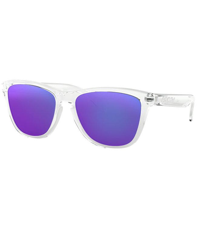 Oakley Frogskins Polished Clear w/Prizm Violet