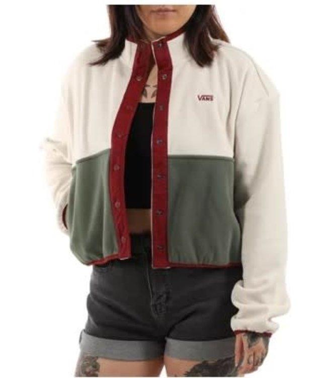 Vans Patchwork Mock Neck Fleece Jacket
