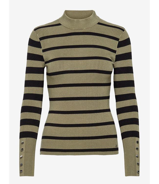 Guess Womens Brea Button Cuff Sweater