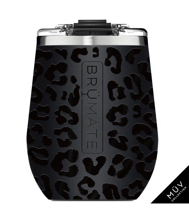 BruMate Uncork'd 14oz Wine Tumbler Onyx Leopard