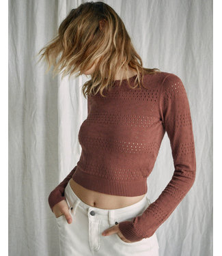 RVCA RVCA Womens Paris Pointelle Sweater