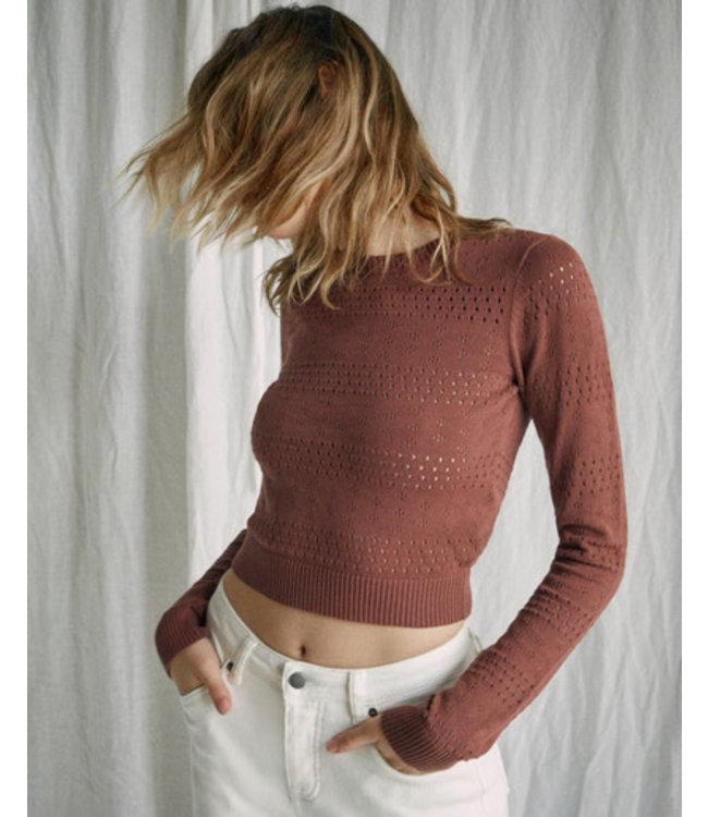RVCA Womens Paris Pointelle Sweater