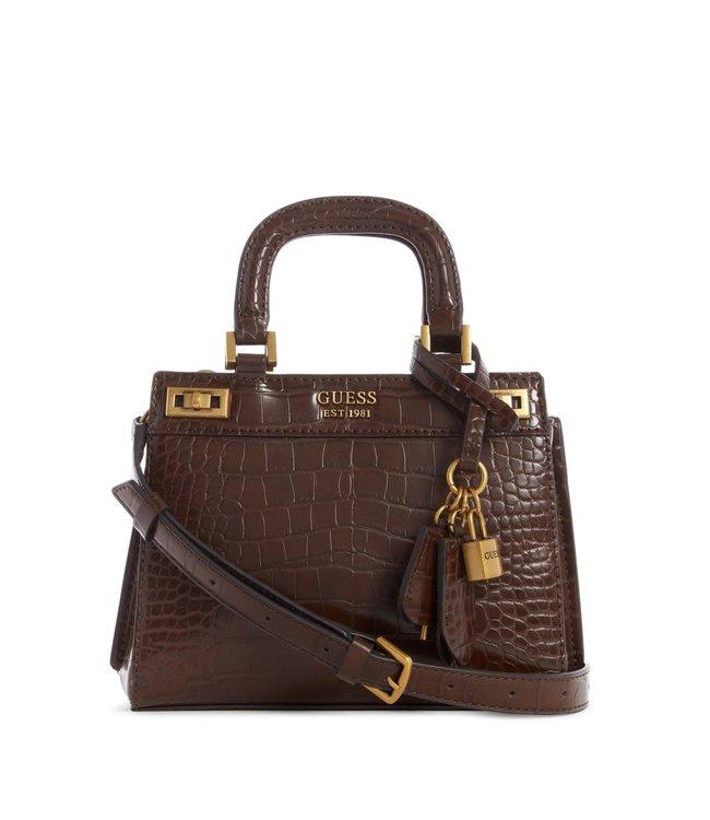 Guess Purse Katey Luxury Satchel - Bronze