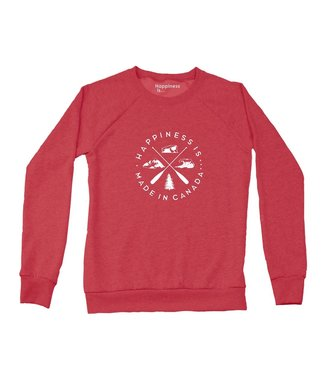 Happiness Is... Happiness is Made in Canada Crewneck