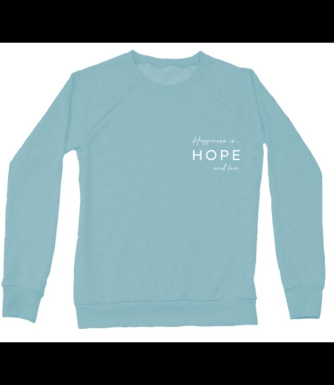 Happiness is Hope & Love Crewneck