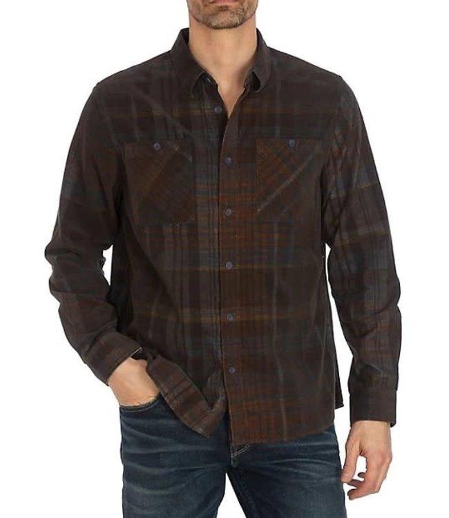 Guess Men's Lincoln Plaid Corduroy Shirt