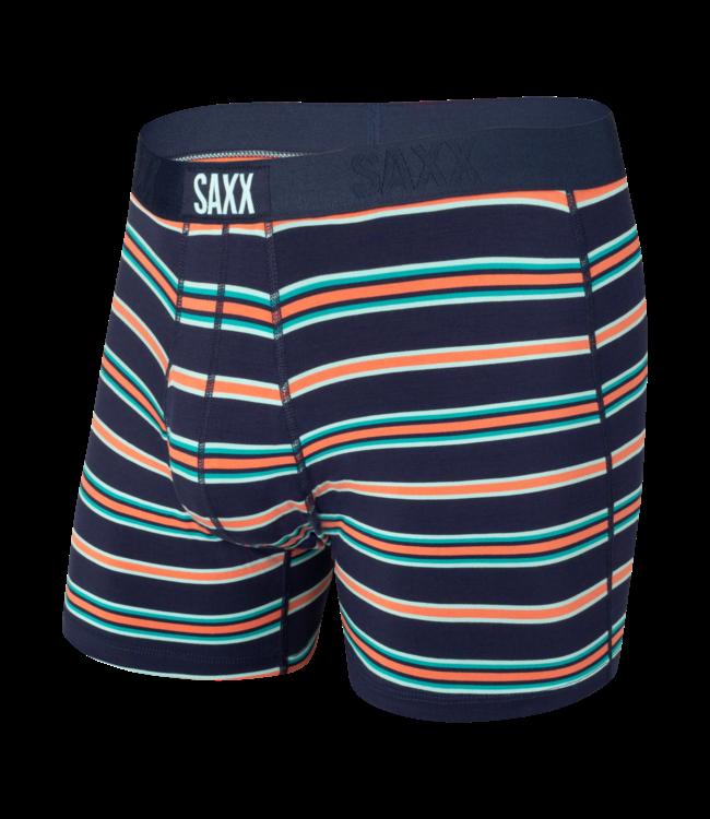 SAXX Ultra Boxer Brief Fly - Navy Vista Stripe