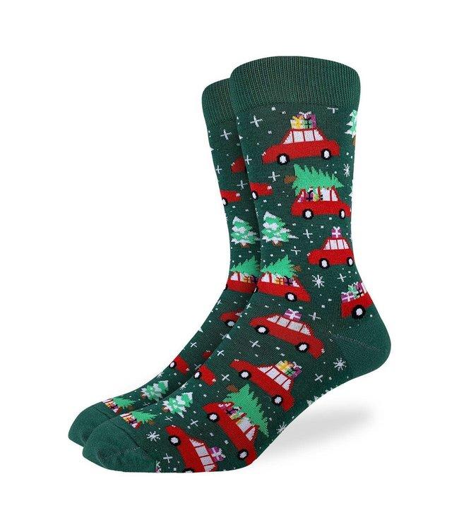 Good Luck Sock Men's Christmas Tree Socks Size 7-12