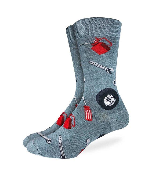 Good Luck Sock Men's Car Mechanic Socks- Size 7-12