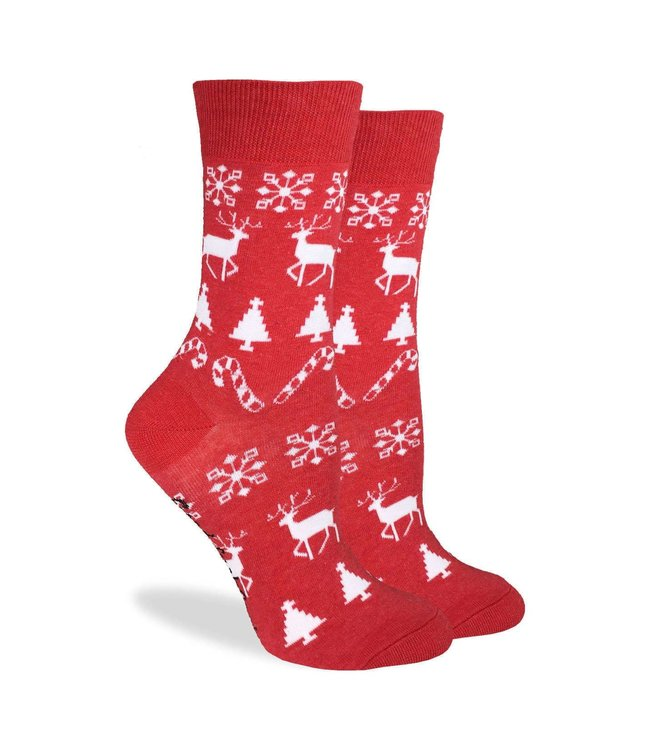 Good Luck Socks Women's Christmas Holiday Socks Size 5-9