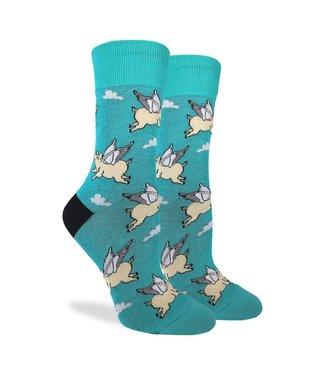 Good Luck Socks Women's Flying Pigs Size 5-9