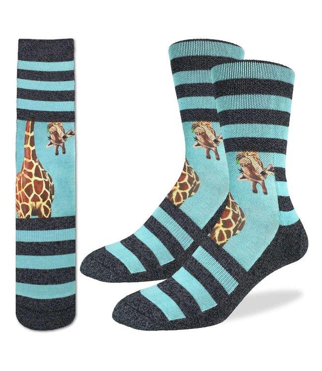 Good Luck Sock Men's Giraffe Socks Size 8-13