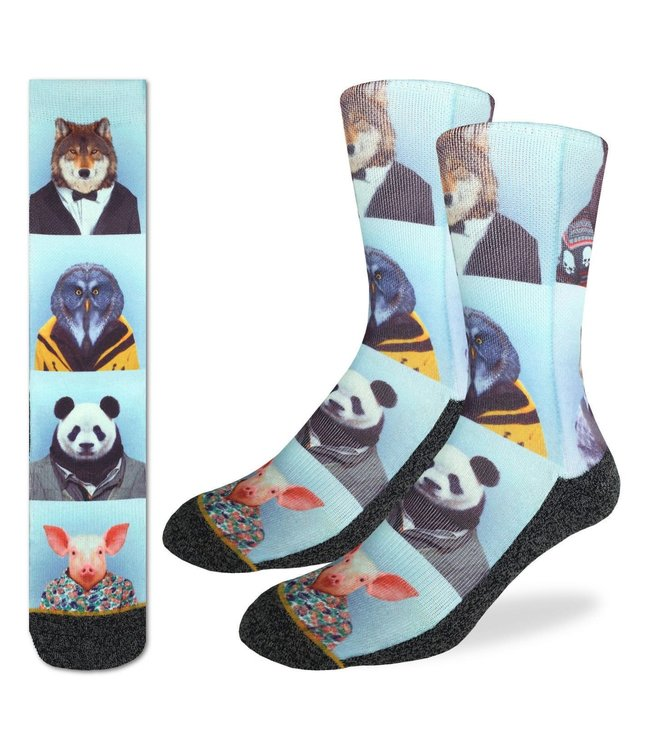 Good Luck Sock Men's Dapper Animals Socks Size 8-13