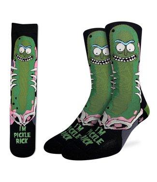 Good Luck Sock Mens Rick and Morty Pickle Rick Socks Size 8-13