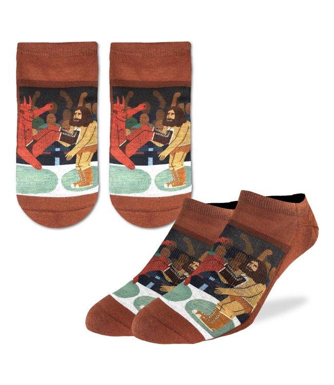 Good Luck Sock Men's Wrestling Good vs Evil Socks Size 7-12