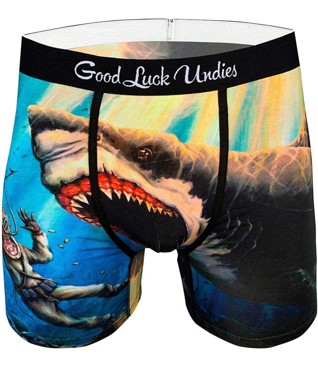 Good Luck Undies Mens Shark Attack