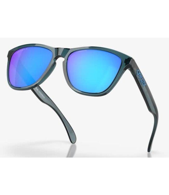 Oakley Frogskin Crystal Black w/Prizm Sapphite Irid Polarized