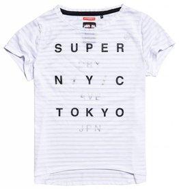 SuperDry Super Dry Womens Burnout Stipe Tee (Sale)