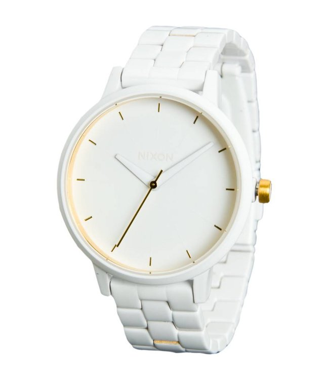 Nixon Kensington All White Gold