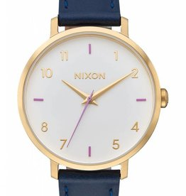 Nixon Nixon Arrow Leather Grey Navy