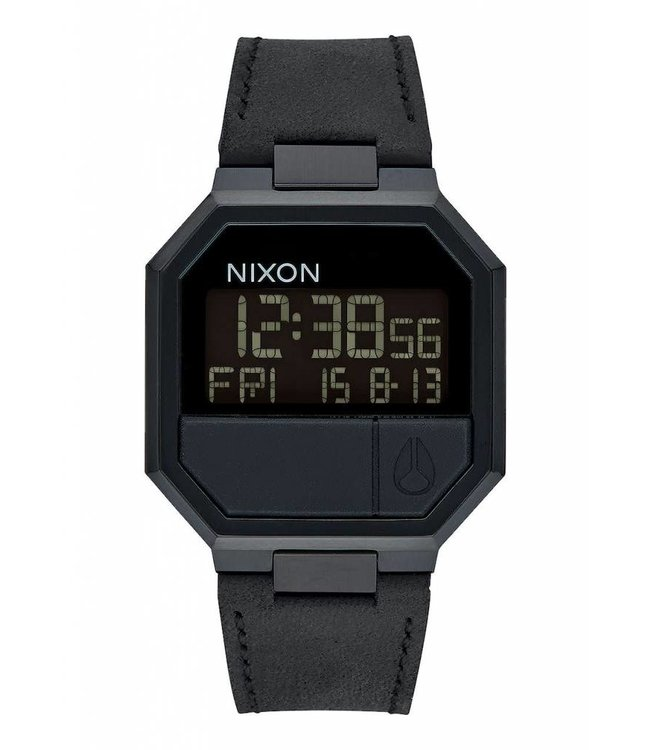Nixon Re-Run Leather All Black