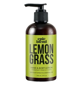 Epic Blend Epic Blend Lemon Grass Hand & Body Lotion 8oz