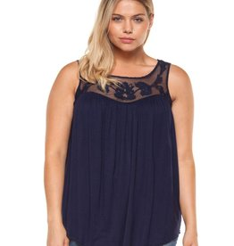 DEX Dex Plus Crochet Inserted Tank