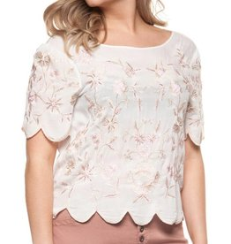 DEX Dex Plus Scalopped Hem Blouse