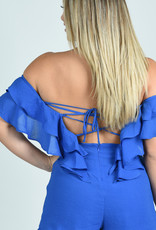 Southern Charm Romper in Blue