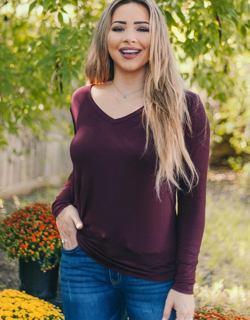 Fall Burgundy Long Sleeve