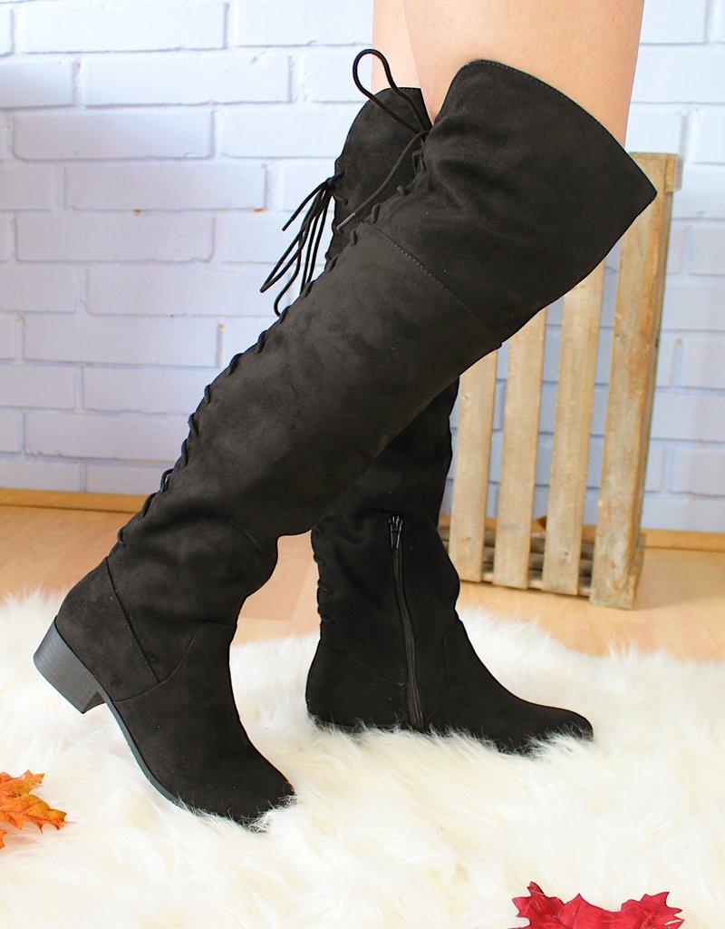 The Lacey Knee High Boot (Black)