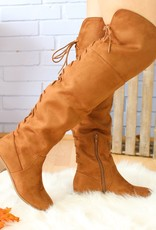The Lacey Knee High Boot ( Chesnut )