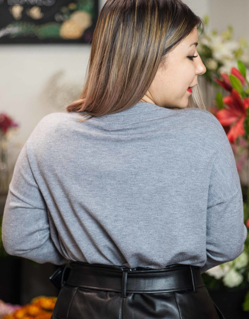 The Grace Sweater Top (GREY)
