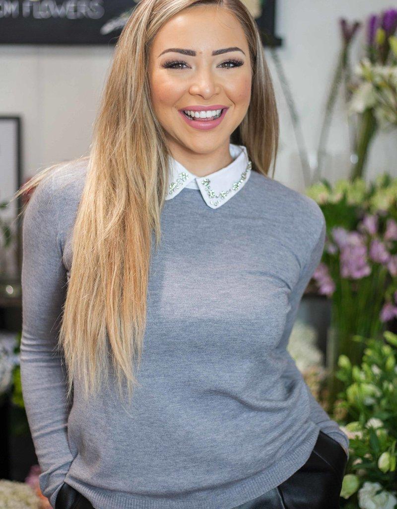 Diana Sweater Top (GREY)