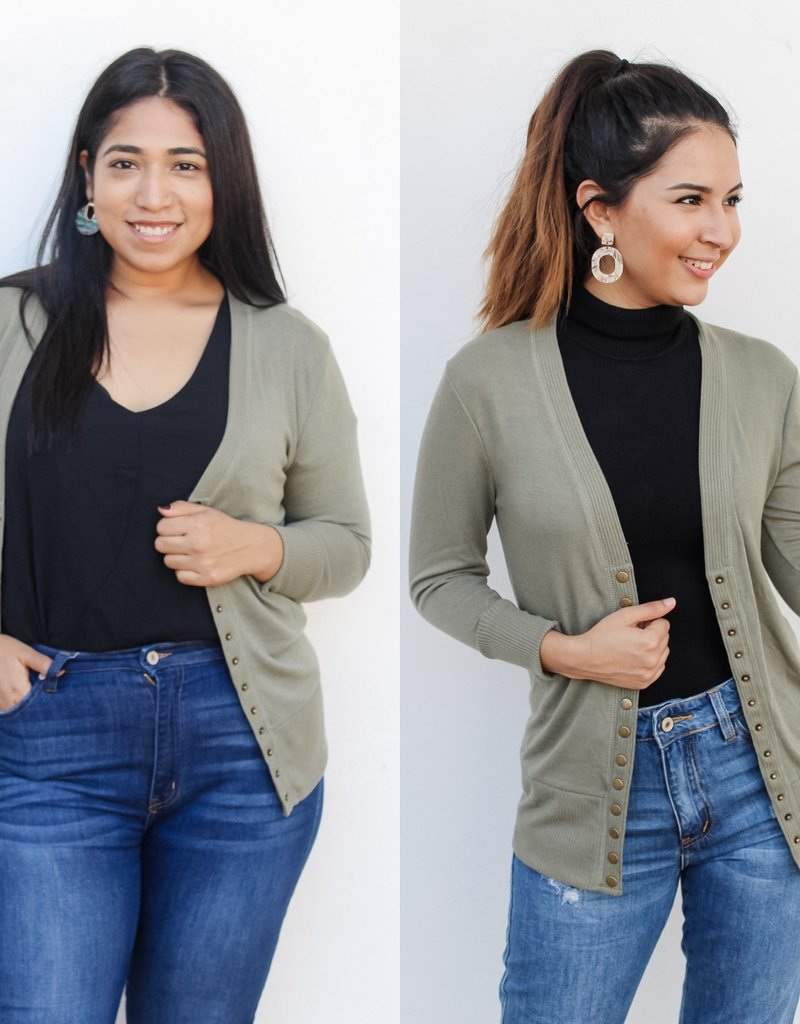 The Perfect Light Cardigan Olive