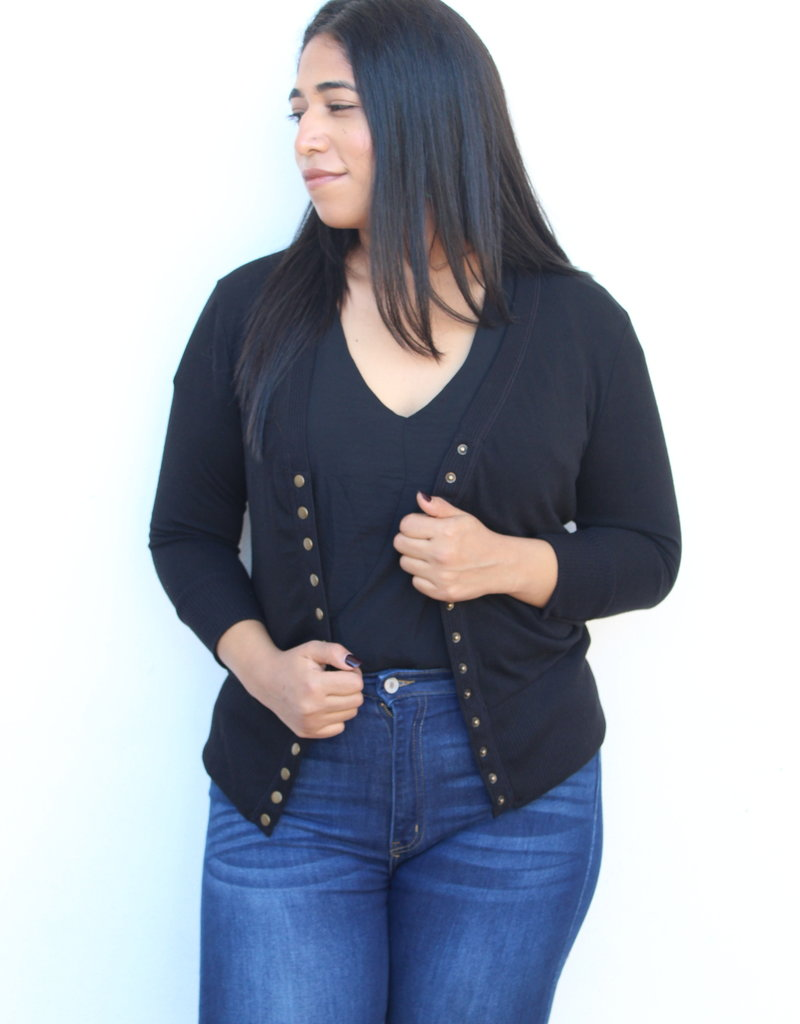 The Perfect Light Cardigan Black