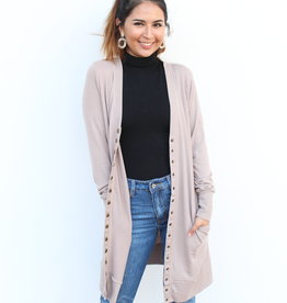 The Perfect Long  Cardigan Mocha