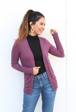 The Perfect Light Cardigan Plum