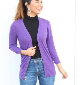 The Perfect Light Cardigan Purple