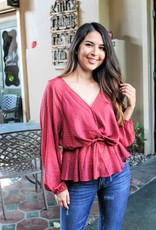 The Beautiful in Burgundy Top