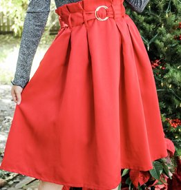 The Perfect Poinsettia Skirt