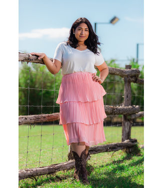 Giddy Up Skirt (in Peach)