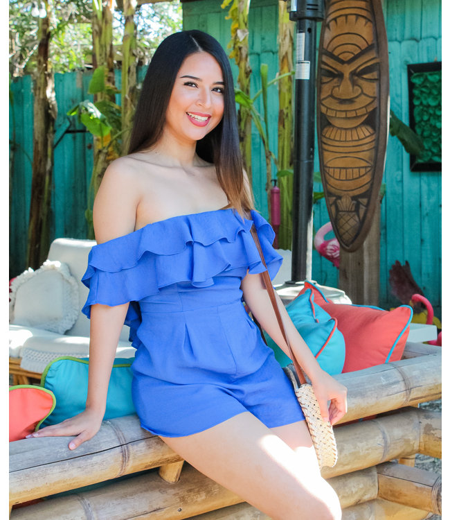 Blue Hawaiian Romper