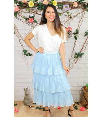 Giddy Up Skirt (in Light Blue)