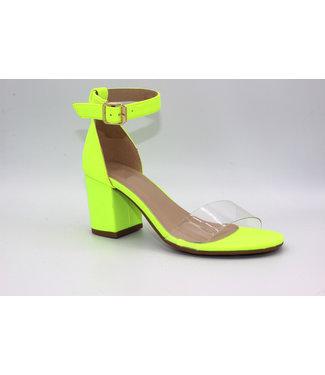 Pretty Please Block Heel (in Neon)