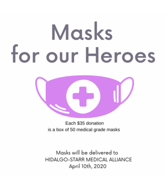Masks for our Heroes Donation