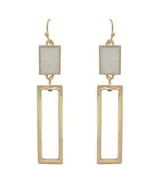 Don't Be Square Earrings- Natural