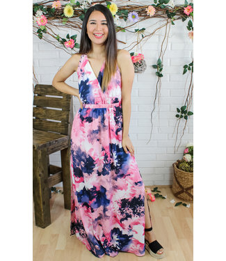 Watercolor Wishes Maxi Dress