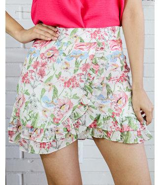 Flower Em' With Love Skirt